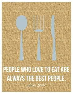 Julia Child quote on burlap- cute kitchen art on Etsy.