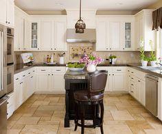 Kücheninsel Ideen für den kleinen Raum - elegante Einrichtungslösung