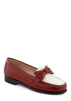 Rachel Antonoff for Bass Red, White, and Bow Flat, #ModCloth