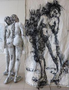 Anne Bothuon sculpture textile, broderie contemporaine