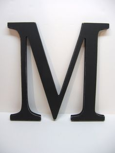 Wood Letter M Sign - 15 Inch - Black - Distressed - Initial - Monogram - Personalized - Wedding Decor - Nursery Decor - Gallery Wall Decor by DimeStoreVintage on Etsy https://www.etsy.com/listing/92408067/wood-letter-m-sign-15-inch-black