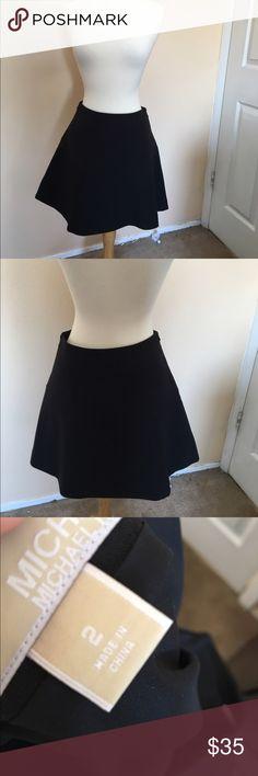 Michael Kors black flare skirt 2 Flare style Michael Kors Skirts Mini