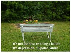 It' not laziness or being a failure. It's depression. Depression Bipolar, Beating Depression, Bipolar Disorder Quotes, Mental Health Advocacy, Chemical Imbalance, Suffering In Silence, Feeling Depressed, Laziness, Mental Illness