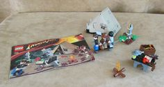 7624 Lego Indiana Jones Kingdom of the Crystal Skull Jungle Duel complete figs #LEGO