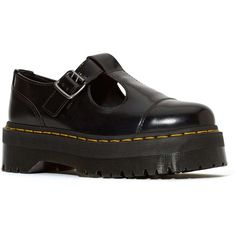 Dr. Martens Bethan Shoe ($59) ❤ liked on Polyvore featuring shoes, boots, rubber sole shoes, yellow shoes, tartan plaid shoes, creeper platform shoes and round chimney cap