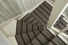 Designers and Makers of unique stripe runners, rugs and fabrics in natural fibres. Simply Luxury for Modern Living Striped Carpet Stairs, Striped Carpets, Hall Runner, Colourful Living Room, Stair Rods, Best Carpet, Beautiful Homes, House Beautiful, Carpet Runner