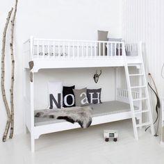 Oliver Furniture Etagenbett 90x200cm mit schräger Leiter