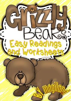 TeacherLingo.com $2.00 - This Thematic Unit contains different sets of Printables including easy reading passages with facts about Grizzly Bears