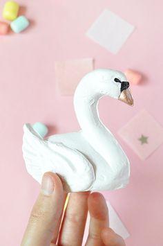 DIY: Papier-Mâché Swan Favors for your Bridal Shower