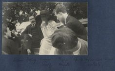 Lord David Cecil, L.P. Hartley, Virginia Woolf, Anthony Asquith and Sylvester Govett Gates photographed by Lady Ottoline Morrell in June of 1923