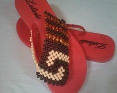 Style in beads by all means and in all ways by MadauBeadedFashion African Great Lakes, Tongs, Flip Flops, Etsy Seller, Handmade Items, Beads, Style, Beading, Swag