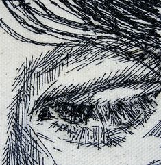 Bernie Leahy - sitch artists uses stitch to create portraits