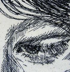 Bernie Leahy - sitch artists uses stitch to create portraits