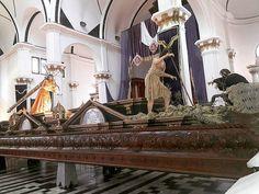 El Reino de los Cielos está cerca! #JesusDeLaJusticia ya en sus andas procesionales. #Hoy #Sabado Concierto de #MarchasFunebres #unacuaresmadiferente  Foto: Cristian Casia para #CnG