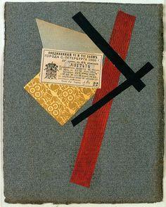 Varvara Stepanova -Composition (collage) 1919-20