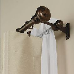 Double Curtain Rod for front window