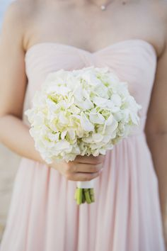 Hydrangea Bridesmaid Bouquet | See the wedding on #SMP: http://www.stylemepretty.com/destination-weddings/2013/12/13/natai-beach-thailand-destination-wedding/  Alison Mayfield Photography Studio