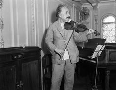 """""""If I were not a physicist, I would probably be a musician. I often think in music. I live my daydreams in music. I see my life in terms of music... I get most joy in life out of my violin."""" -Albert Einstein, 1929"""