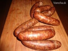 sk - recepty a videá o varení Sausage Recipes, Food 52, The Cure, Grilling, Bbq, Food And Drink, Homemade, Meat, Cooking