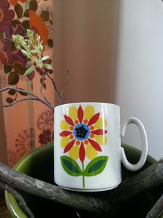 Mid century vintage 60s Graphic and Colorful by fcollectables, €10.00