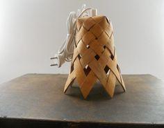 Vintage Swedish birch bark lamp Birch bark lamp shade Rustic organic lighting…