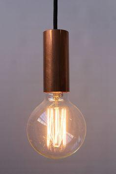 Copper Pipe Pendant Cord by NUD. Copper pendant light statement - Fat Shack Vintage - Fat Shack Vintage