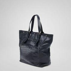 Bottega Veneta Bags And Handbags Tourmaline Light Calf Soft Crocodile Fume Tote 511