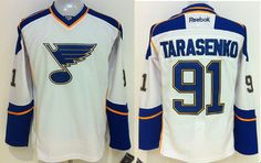 "$34.88 at ""MaryJersey"" (maryjerseyelway@gmail.com) #91 Vladimir Tarasenko - Blues White Away Men's/ Youth Stitched NHL Jersey"