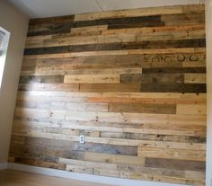 Pallet wall I did in my apartment.