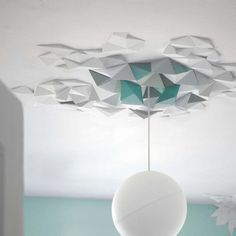 Love the dimension and texture the Rhombus System L brings to ceilings. By the Fundamental Shop.