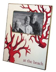 Remember your vacation with this wonderful Red Coral picture frame.  Product in photo is from www.wellappointedhouse.com