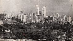 View from Sao Paulo in 1954 More photos from this wonderful city here: www.oldsaopaulo.com
