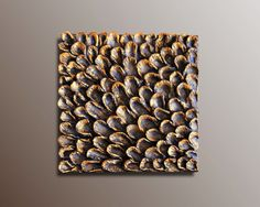 Wood Wall Tile - Textured Wall Sculpture - Metallic Finish 3D Wood Wall Art- Textured Wall Art - Wood Wall Hanging - 3D Wall Art & 3D Wall Art - Wall Sculpture - Squared Decorative Panel - Textured ...