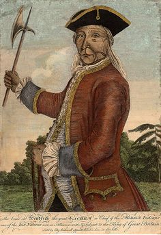 The Brave Old Hendrick Chief of the Mohawk Indians 1740 kp