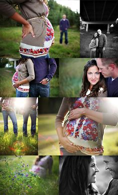 Maternity poses-honestly I didn't let people take my picture when I was prego, they said I wasn't THAT big but I was swollen in the face...I always had a double chin lmao!!! I wish I would have though, this is cute
