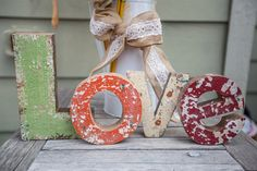 Create your own beautiful home decor with these beautiful rustic letters // Courtney O'Dell