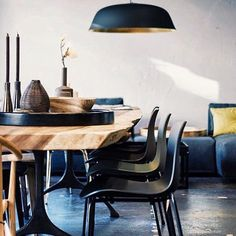 NORR11 Rough Table, Langue Chairs, Cloche Three Lamp and accessories
