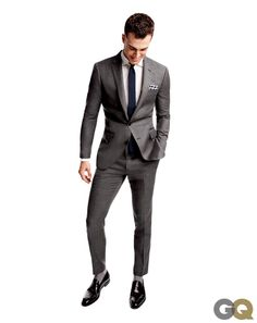 The Game- Time Suit 2:30 PM  Save pinstripes and plaid suits for back home. On the road, you need the versatility of gray. Oh, and if your pants arent looking crisp, see if the hotel has a steamer— or theres always the shower trick.  Suit pants, $225 by J.Crew Ludlow. Shirt, $65 by Tommy Hilfiger. Tie, $180 by Charvet. Socks by Falke.