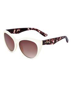 8c70958568 Steve Madden White   Tortoise Cat-Eye Sunglasses