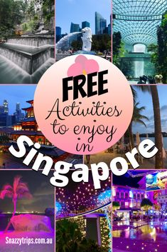 12 Free Things To Do In Singapore - Singapore is known as one of the most expensive cities in the world to visit. So you may not believe me when I tell you there are actually many free things to do in Singapore. Here I will list 12 activities you can do for zero cost to help stretch your holiday budget further when travelling here. Furthermore, many of these free things to do in Singapore are some of the top highlights of the city. Visit Singapore, Singapore Travel, Activities In Singapore, Free Things To Do, Fun Things, Budget Travel, Travel Tips, Travel Guides, Gardens By The Bay
