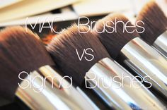 MAC Brushes vs Sigma Brushes dupe guide - can't wait to try a few sigma brushes - I have heard great things about them and they are cheaper than MAC