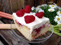 Rhabarber- Himbeer- Kuchen