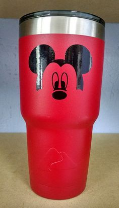 Items similar to Mickey Mouse Tumbler Mickey Tumbler, Mickey Face Diy Tumblers, Plastic Tumblers, Custom Tumblers, Mickey Mouse, Disney Mickey, Ozark Tumbler, Disney Cups, Cricut Tutorials, Cricut Ideas