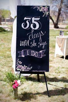 Wedding Day Countdown | TrueBlu | Samantha Sais Photography #bridalshower