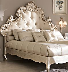 Rococo Tufted Silk Bed - Amazing Homes Interior Dream Bedroom, Home Bedroom, Bedroom Furniture, Bedroom Decor, Wooden Furniture, Bedroom Ideas, Master Bedroom, Dressing Design, Silk Bedding
