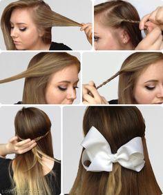Kalya sierra goalksierra on pinterest diy hair braid bow girl bow diy braid diy ideas diy crafts do it yourself easy solutioingenieria Gallery
