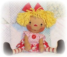Free pattern to make your own prim doll