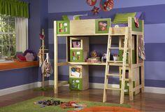 Powell Company Littlemissmatched Artsycraftsy Twin Size Study Loft Bunk Bed