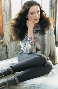 Remain Metallic Sweater, Bellatrix Sweater with zip-detailed collar, & Hudson skinny jeans #Nordstrom #AugustCatalog