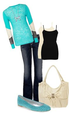 """""""Blue and Bows"""" by cutiepie1024 on Polyvore"""